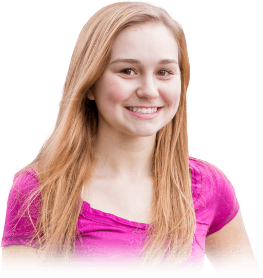 pink shirt girl smiling Ossi Orthodontics Jacksonville and St. Augustine Florida Orthodontist
